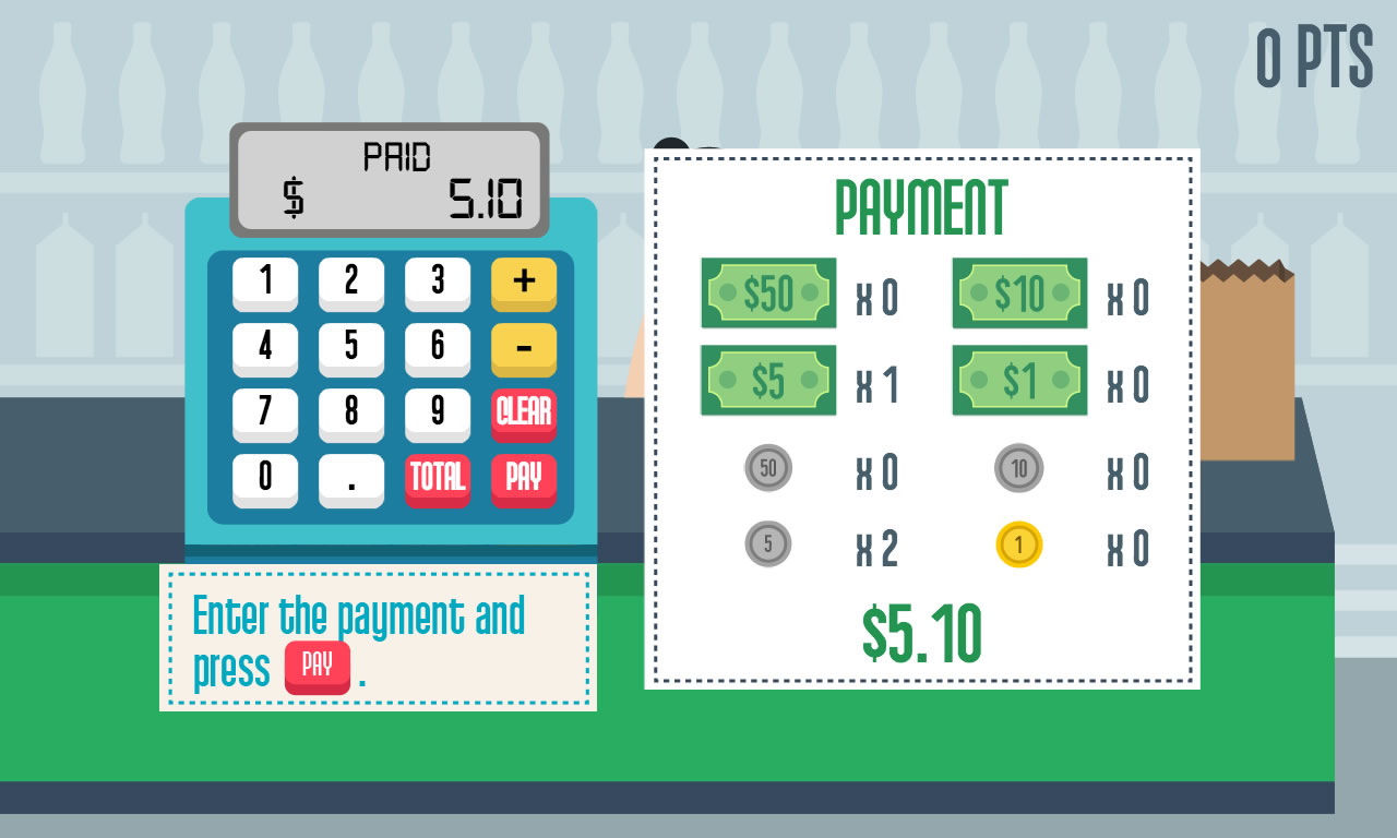 Grocery cashier is a html5 game where you play as a cashier in your