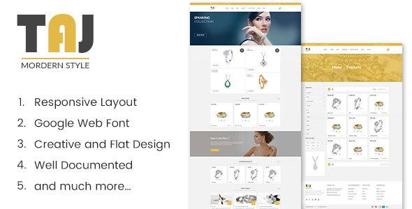 Taj - Jewellery Shopify Theme