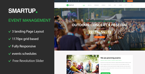 Smart Up - Conference & Event HTML Template