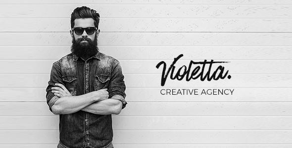 Violetta   Creative Agency Minimal Responsive Site Template