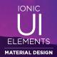 Material Design UI Ionic Template App (UI Elements) Download