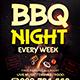 BBQ Night Flyer Template PSD
