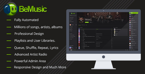 Download BeMusic - Music Streaming Engine nulled download