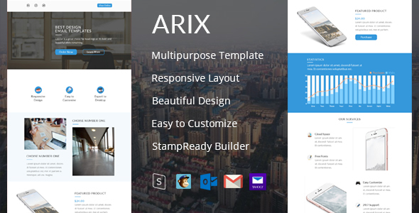 Download Arix - Email Template + StampReady Builder nulled download