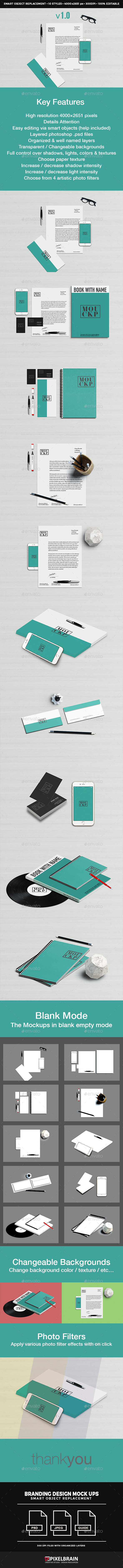 Stationery & Branding Mockup  Vol. 2 (Stationery)