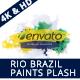 Rio Brazil Paint Splash Logo Revealer
