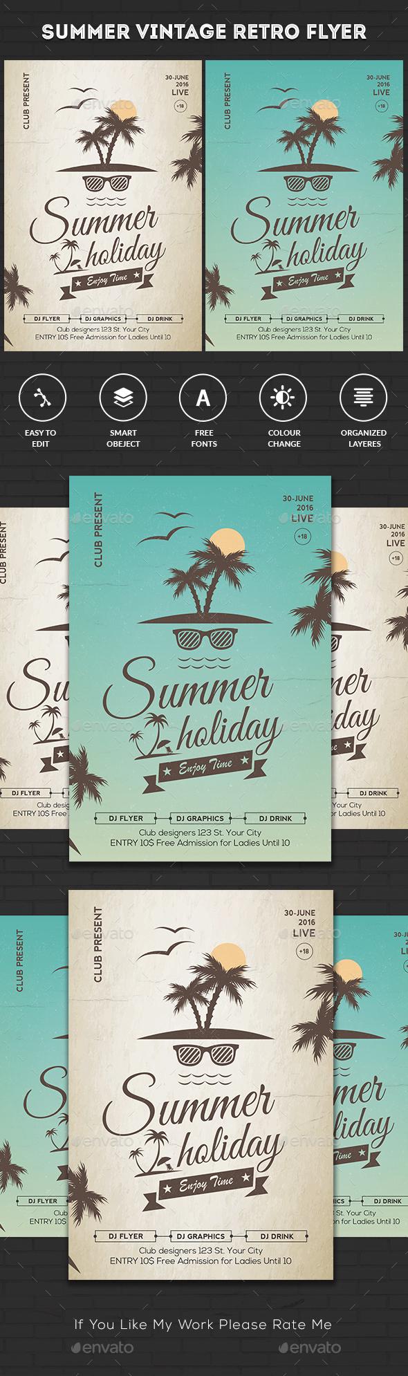 Vintage Summer Party Flyer