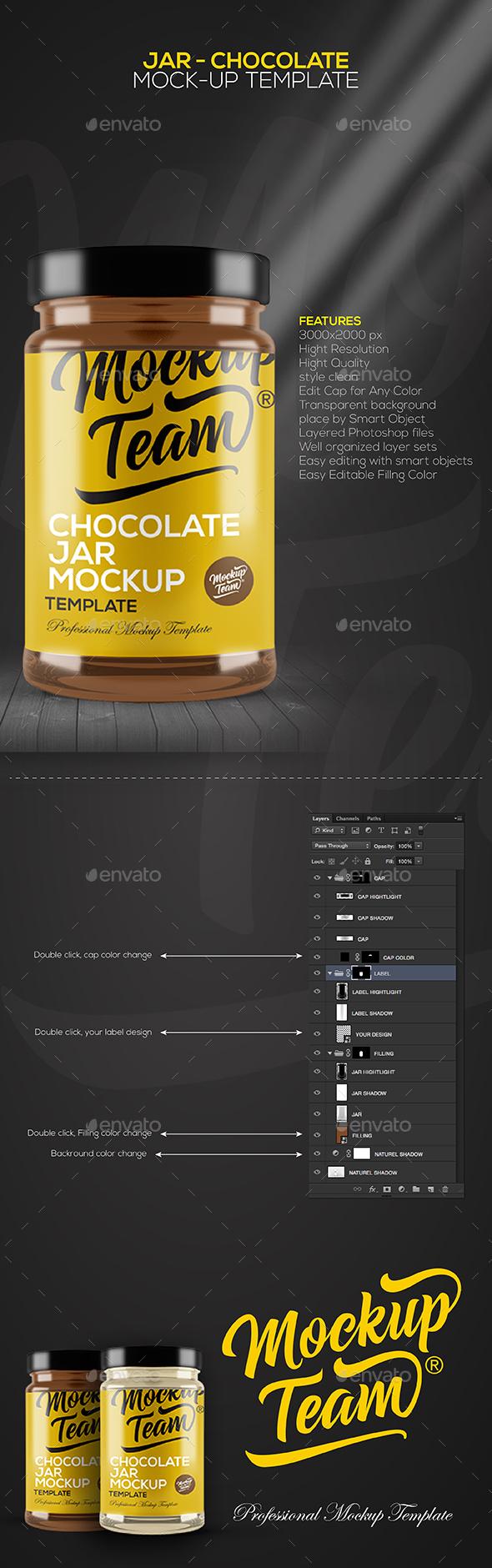 Jar - Chocolate Mock-up Template
