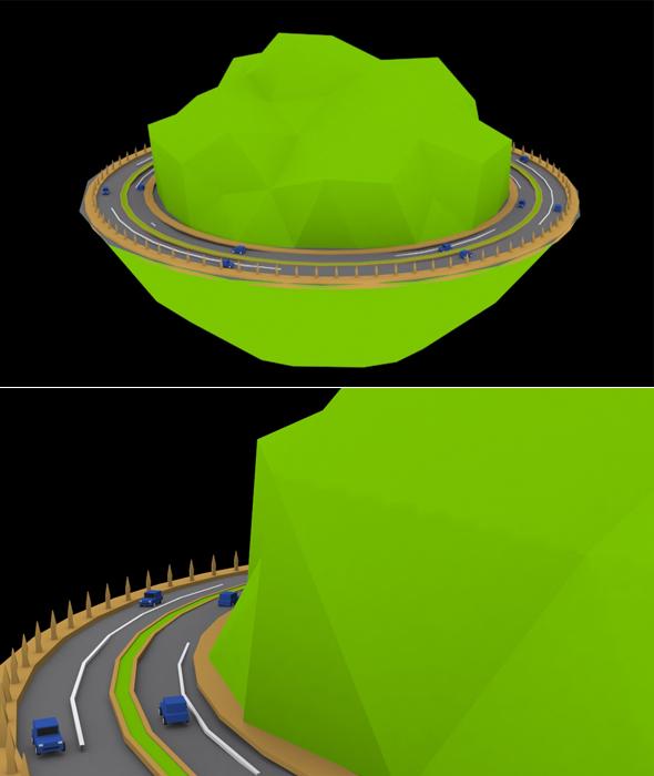 3DOcean Hills Race 3D Model 17099161
