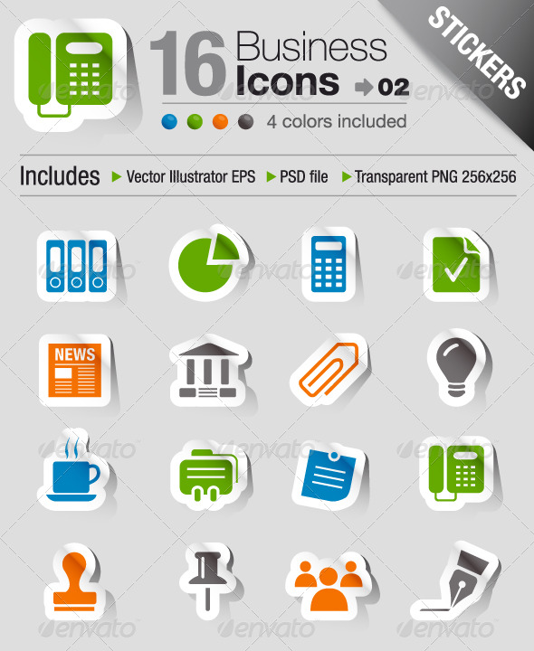 GraphicRiver Stickers Office And Business Icons 02 200658