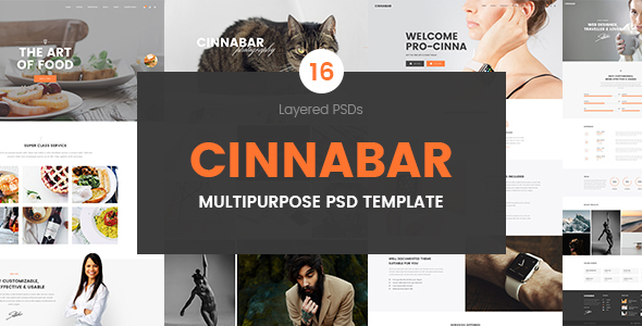Cinnabar – Multipurpose PSD Template
