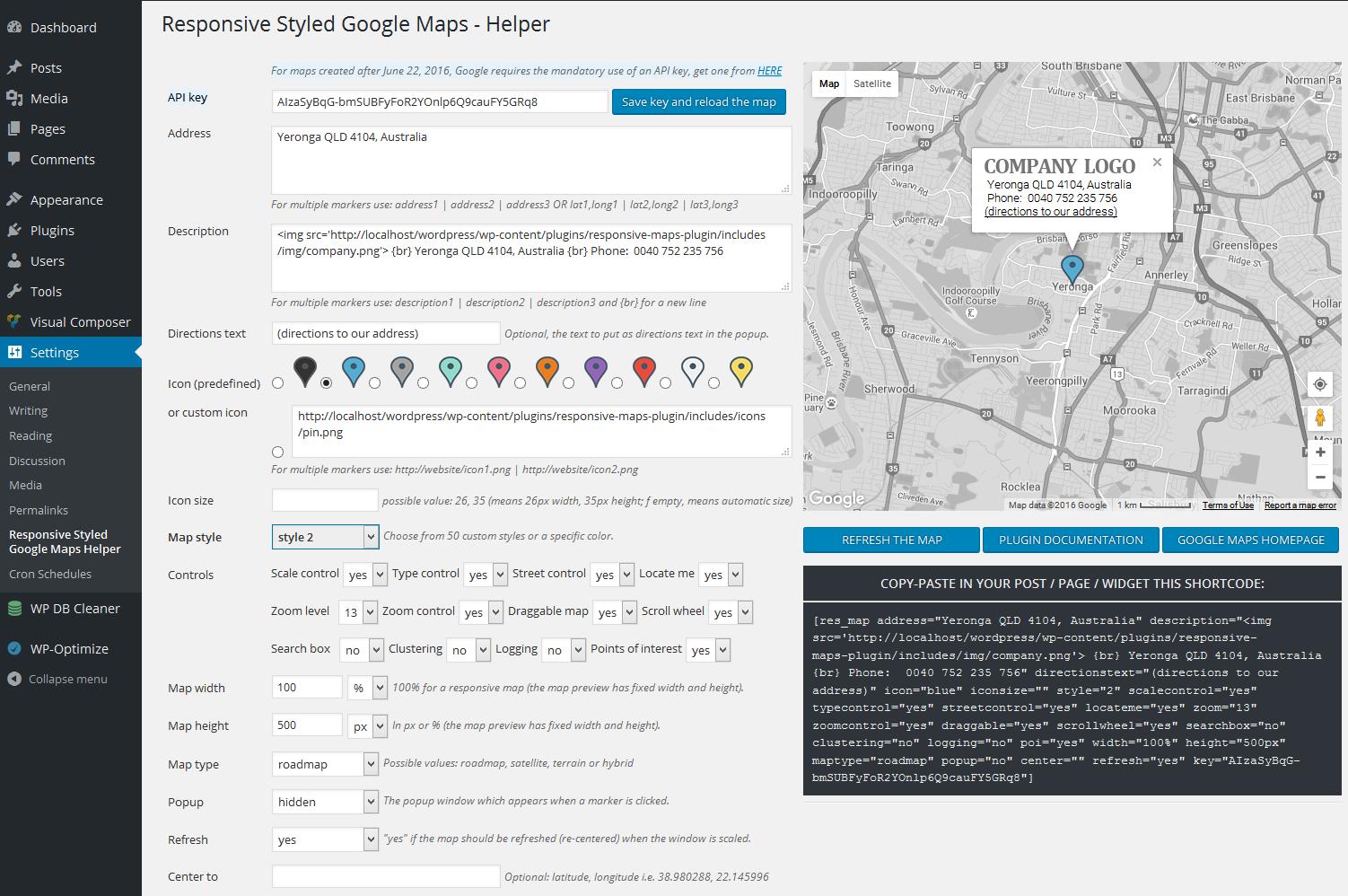 Responsive Styled Google Maps - WordPress Plugin - WPMeta