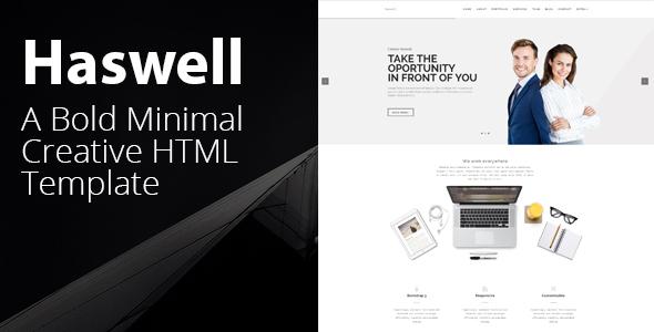 Haswell - Agency & Portfolio HTML Parallax Template