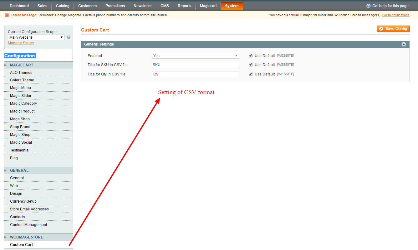 Easy bulk order upload csv to create cart magento by for Magento csv import template