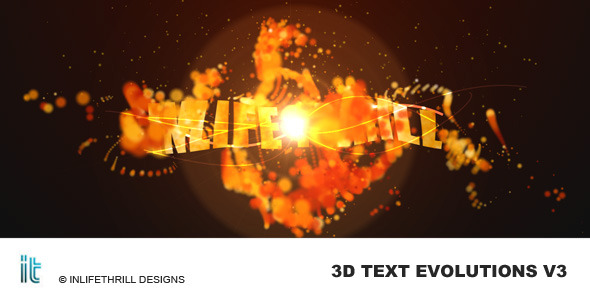 After Effects Project - VideoHive 3D-TextEvolutions V3 Fire 58430