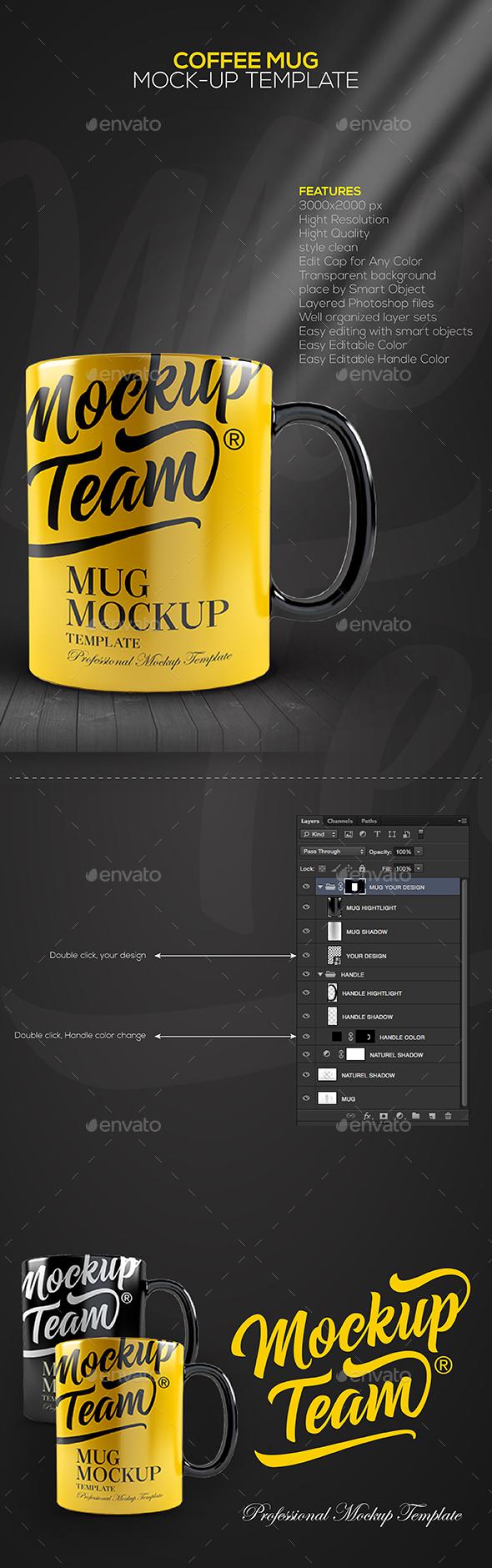 Coffee Mug Mock-up Template