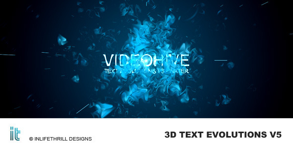 After Effects Project - VideoHive TextEvolutions V5 Water 60524