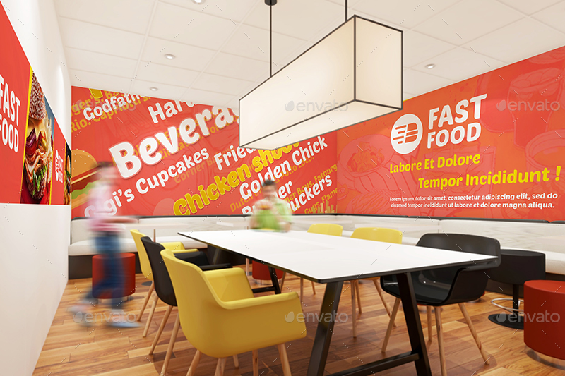 Restaurant fast food outlet mockups by wutip graphicriver