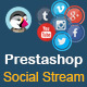 Social Stream for Prestashop With Carousel