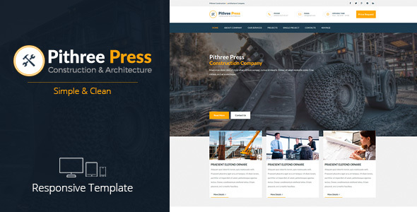Pithree Press - Construction Business Responsive Muse Template
