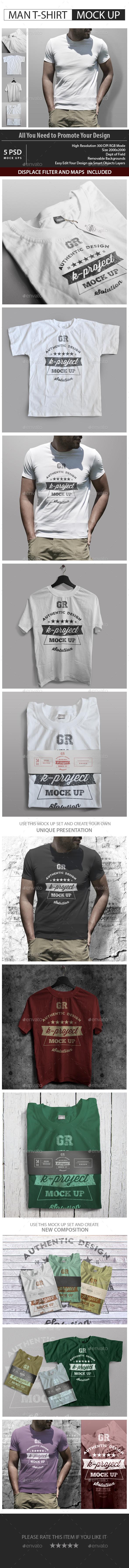 Man T-Shirt Mock Up v2