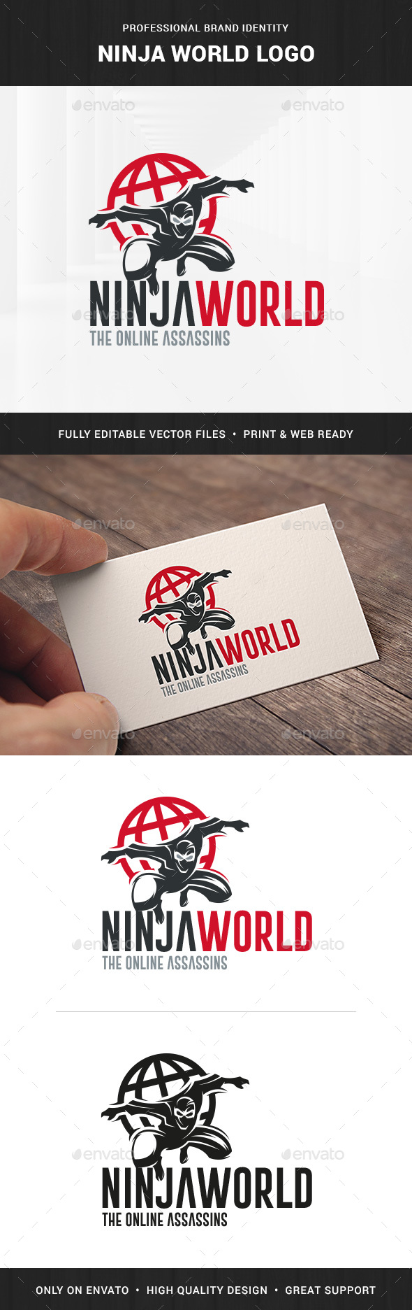 Ninja World Logo Template