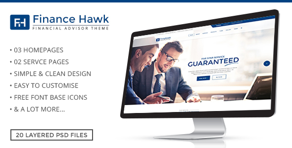 Finance Hawk - Finance and Business PSD Template