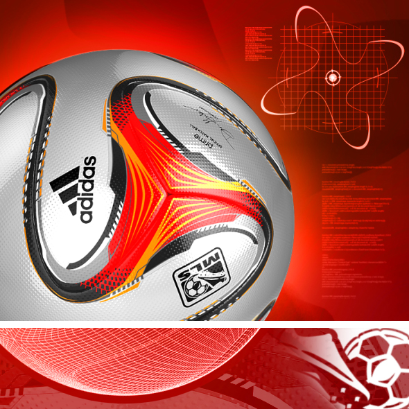 Official Match Ball MLS - PRIME - 2014 3D model - 3DOcean Item for Sale