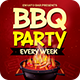 BBQ Party Every Week Flyer PSD
