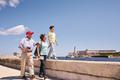 Grandparents Grandson Family On Holidays In Havana Cuba