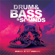 Drum Bass Dubstep Electro CD Cover Template