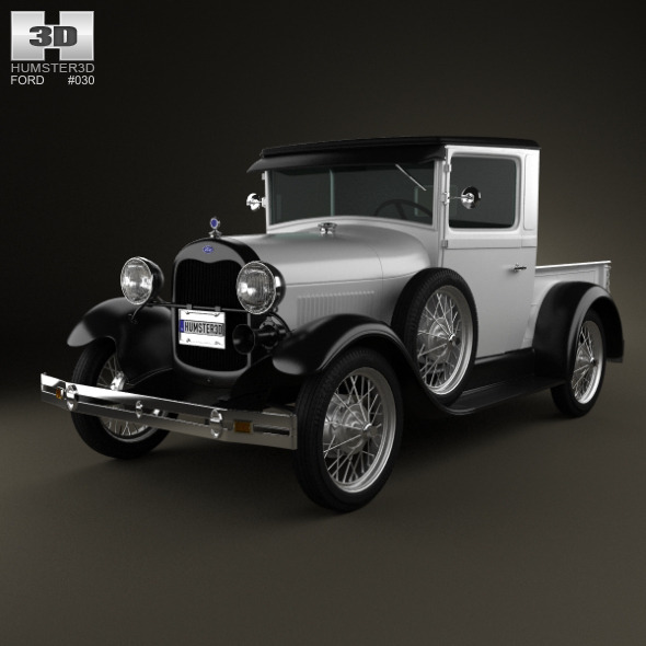 3DOcean Ford Model A Pickup ClosedCab 1928 1702377