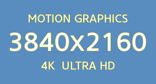 4K Motion Graphics 3840x2160