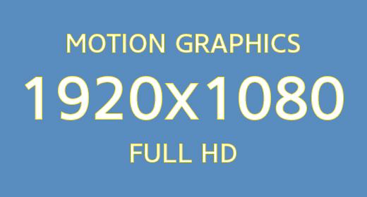 Motion Graphics 1920x1080