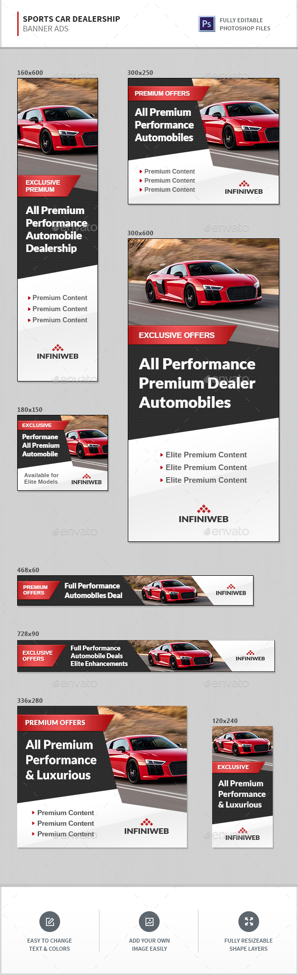 Automotive Car Dealership Graphics Designs Templates