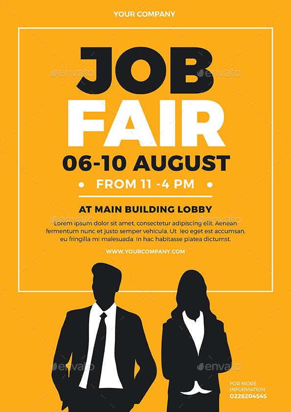 job fair flyer by vynetta graphicriver. Black Bedroom Furniture Sets. Home Design Ideas