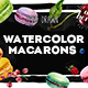 Delicious Macarons Watercolor Set