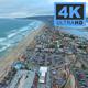 Coastline Beach City. Skyline Aerial View