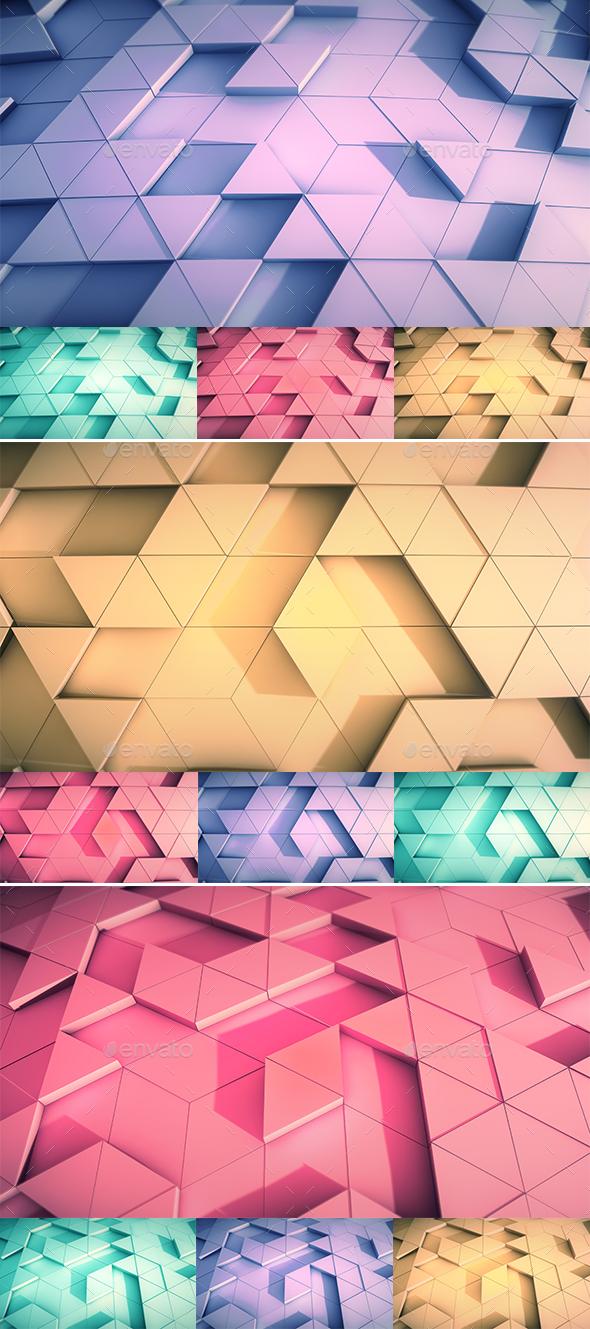 3D Polygonal Backgrounds - 4K