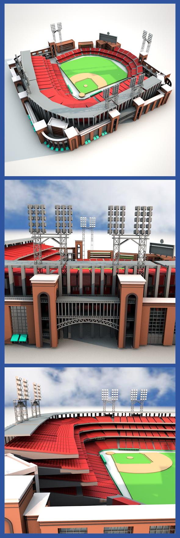 3DOcean Busch Stadium 17127926