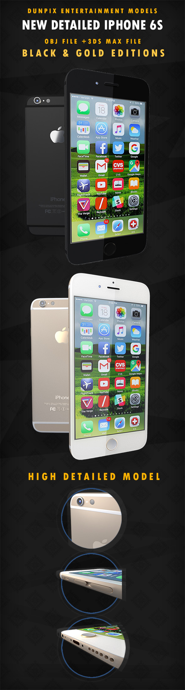 iPhone 6S High quality  - 3DOcean Item for Sale