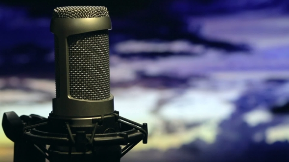 Download Isolated Microphone On Stand Background Cloudy Sky nulled download