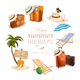 Set of Vacation Related Icons