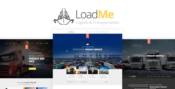 LoadMe - Logistic & Transportation PSD Template