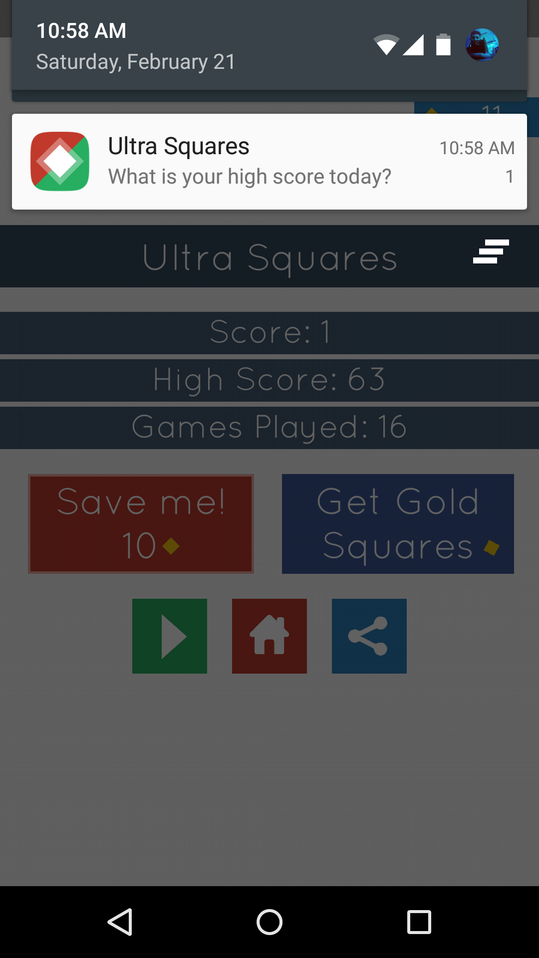 Game color squares - Ultra Squares Highly Addictive Game Template