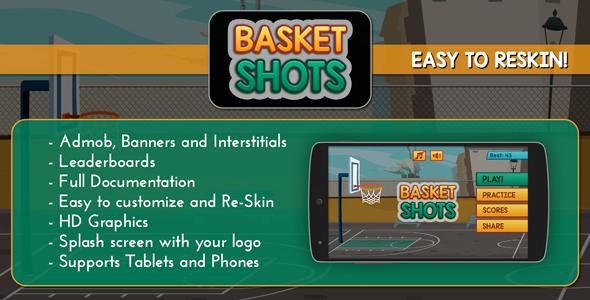 Basket Shots - HD Basketball Game Template - CodeCanyon Item for Sale