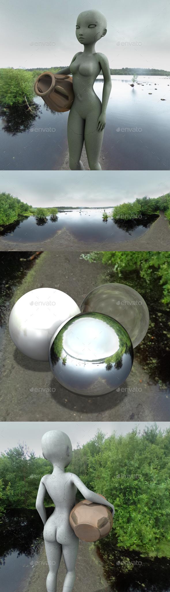 Swampland Lake HDRI - 3DOcean Item for Sale