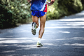 feet old male athlete
