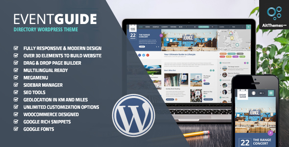 Download Event Guide - Ultimate Directory Listing Theme for Events, Concerts, Gigs, Museums or Galleries nulled download