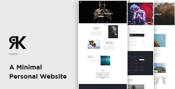 REDIKIEL – Minimal Personal Website PSD Template